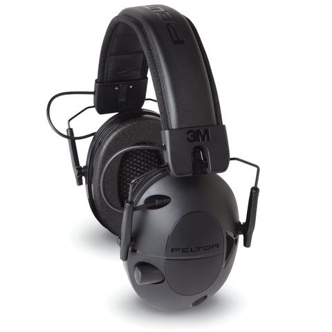 Image of Peltor Tactical 100 Electronic Earmuffs, Black