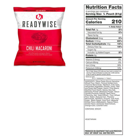 ReadyWise 2160 Serving Package of Long Term Emergency Food Supply
