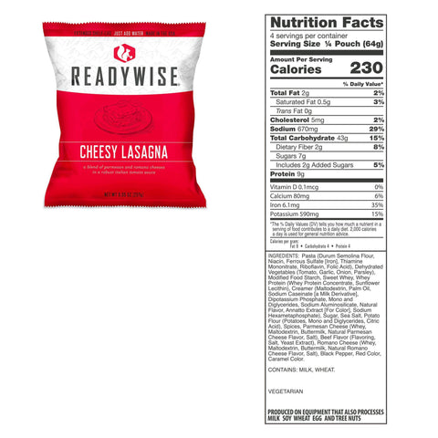Image of ReadyWise 1080 Serving Package of Long Term Emergency Food Supply