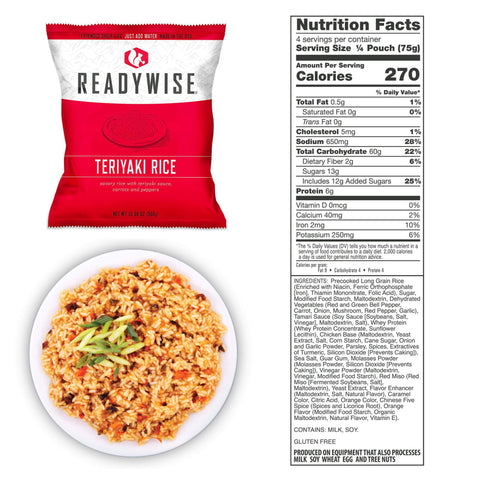 ReadyWise 72 Hour Emergency Food and Drink Supply - 32 Servings