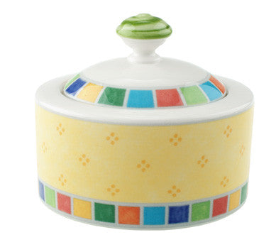 Villeroy & Boch Twist Alea Limone 6 3/4 oz. Covered Sugar