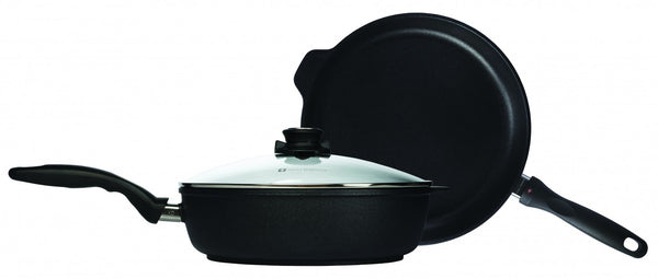 "Swiss Diamond -XD 3 Piece Set - 11"" Fry Pan & 4.3 Qt Saute Pan"