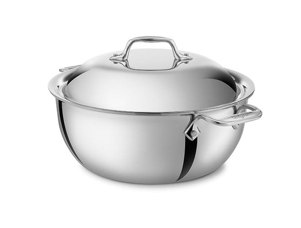 All Clad D3 - Dutch Oven w/Lid 5.5 Qt. Stainless