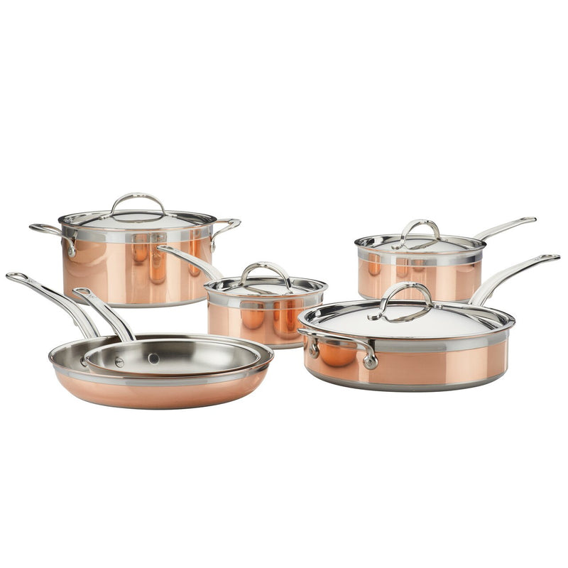 Hestan CopperBond Induction Copper Ultimate Set, 10-Piece