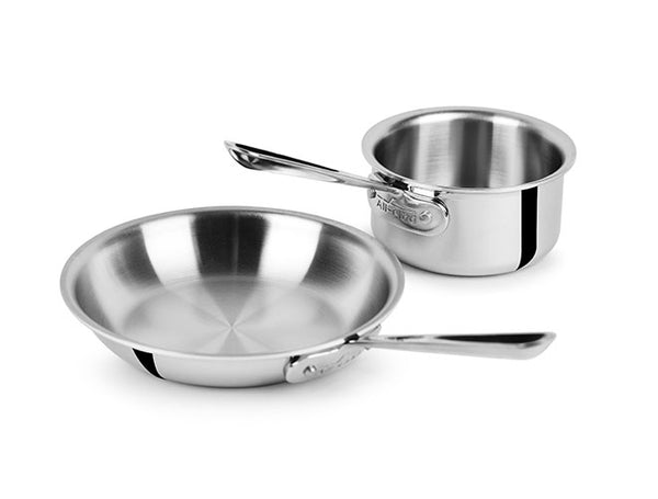 All Clad d3 - 2 Piece Open Saucepan & Skillet Starter Set Stainless