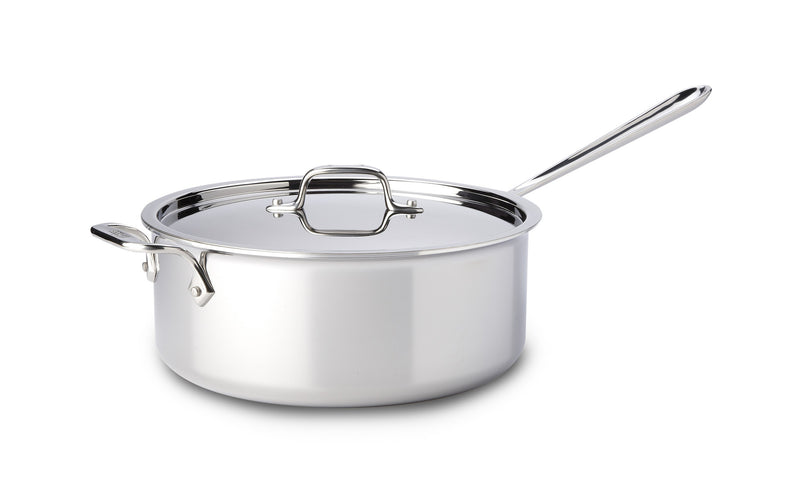 All Clad D3 - 6 Qt. Deep Saute w/Lid Stainless