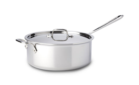 All-Clad 6 Qt. Deep Saute w/Lid Stainless Collection