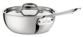 All Clad d3 - Sauciers w/Lid Stainless Collection