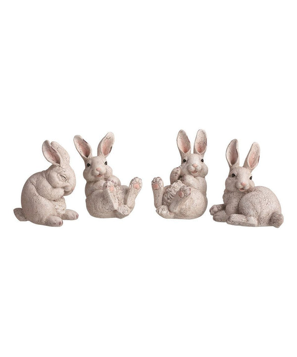 Transpac -  Crackle Bunny Figurine - Individual