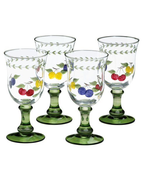 Villeroy & Boch French Garden Glassware, Set of 4 10 oz. Cheer Water Goblets