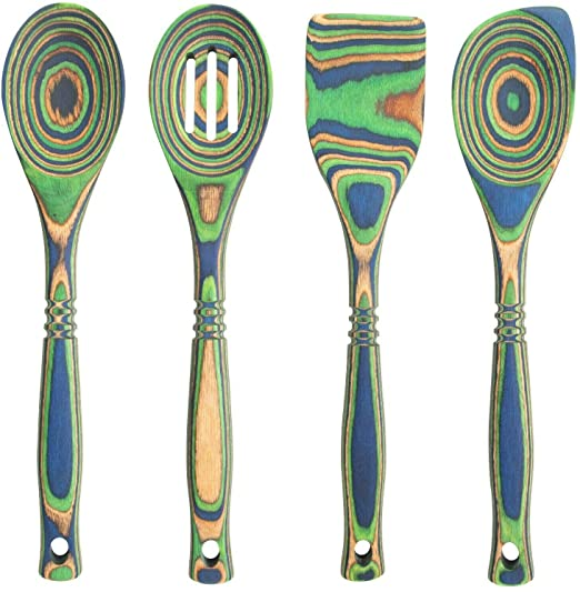 Copy of Pakka - Island Bamboo - Pakka - Wood Spoon and Spatula Set in Peacock