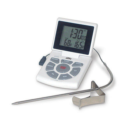 CDN - Combo Probe Thermometer, Timer & Clock – White