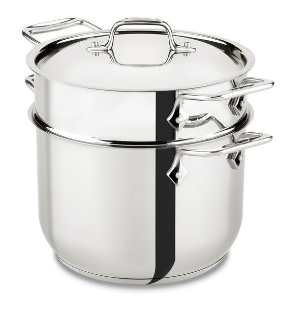 All Clad D3 - 6 Qt. Pasta Pot Stainless