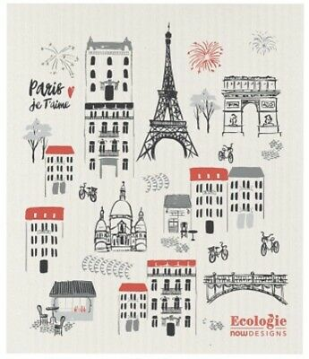 Now Designs Ecologie  - Paris Je Taime Swedish Dishcloth