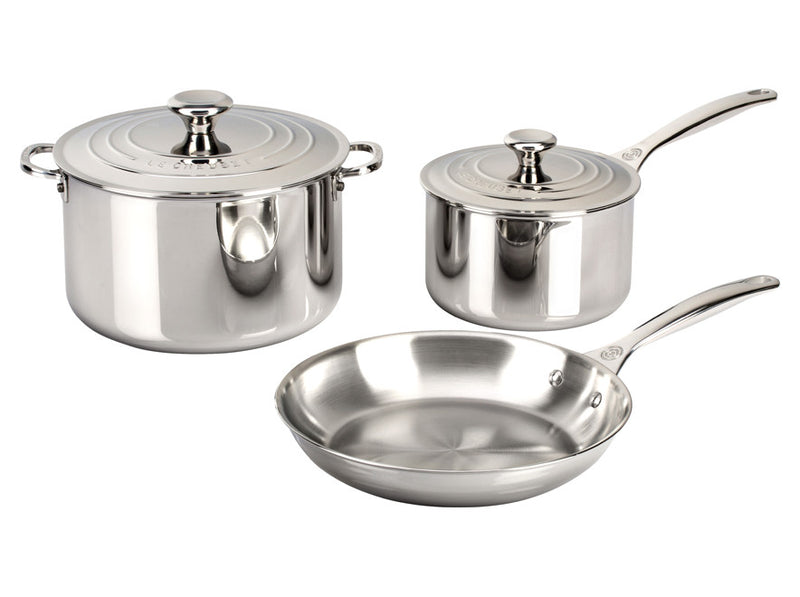 Le Creuset - 5-Piece Stainless Steel Set