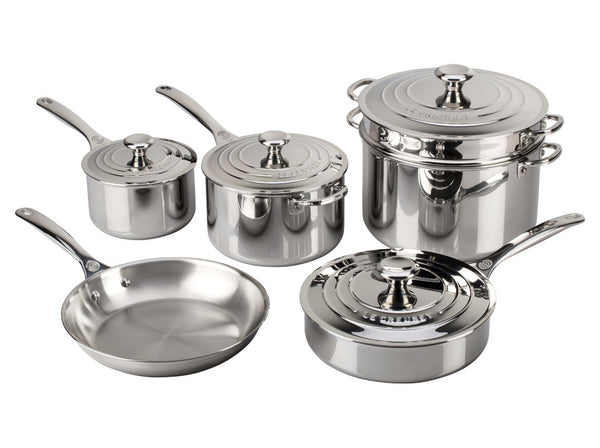 Le Creuset - 10-Piece Stainless Steel Set