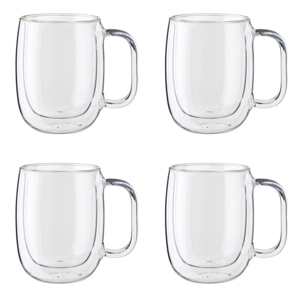 ZWILLING - SORRENTO PLUS 4-PC DOUBLE-WALL GLASS COFFEE MUG SET