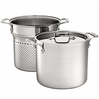 All Clad D3 - 7 Qt. Pasta Pentola w/Insert & Lid Stainless