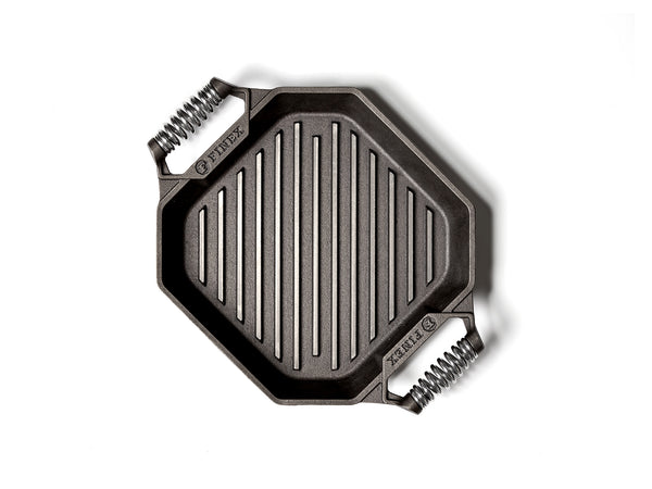 "Finex - 12"" Cast Iron Grill Pan"