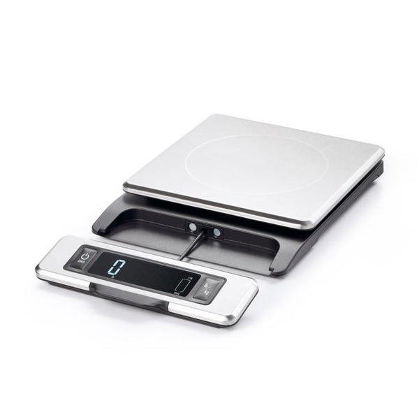 Oxo -  11 lb Stainless Steel Food Scale with Pull out Display