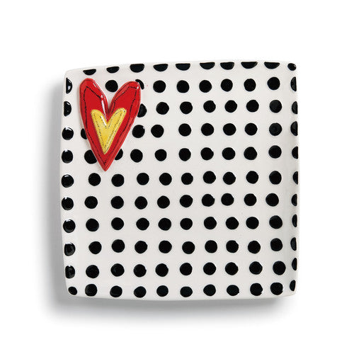 Demdaco - Black Dots Platter from Heartful Home