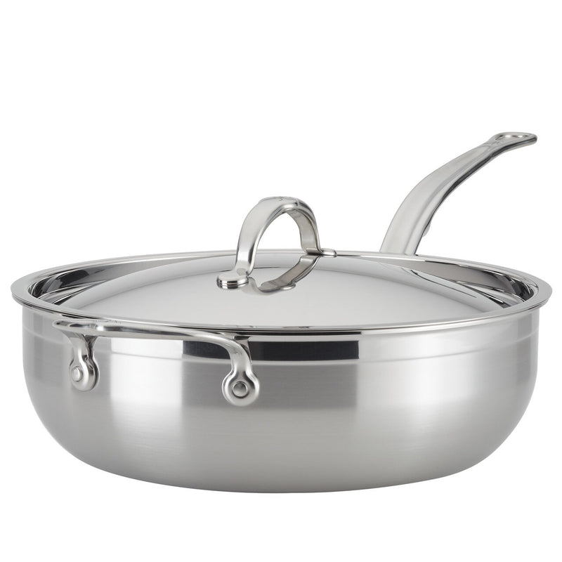Hestan ProBond Forged Stainless Steel - 5 Qt Covered Essential Pan With Helper Handle