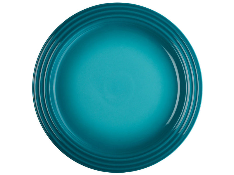 "Le Creuset - Set of (4) 10.5"" Dinner Plates - Caribbean"