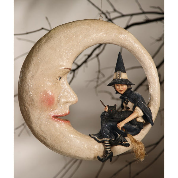 Bethany Lowe Designs- Witch On Moon