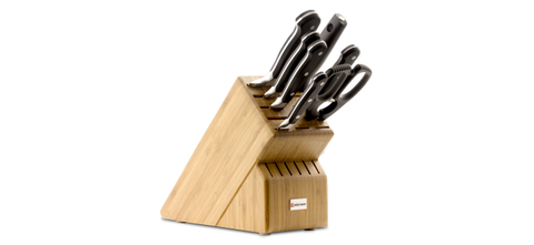 Wusthof Classic 8 Piece Deluxe Block Set, Bamboo