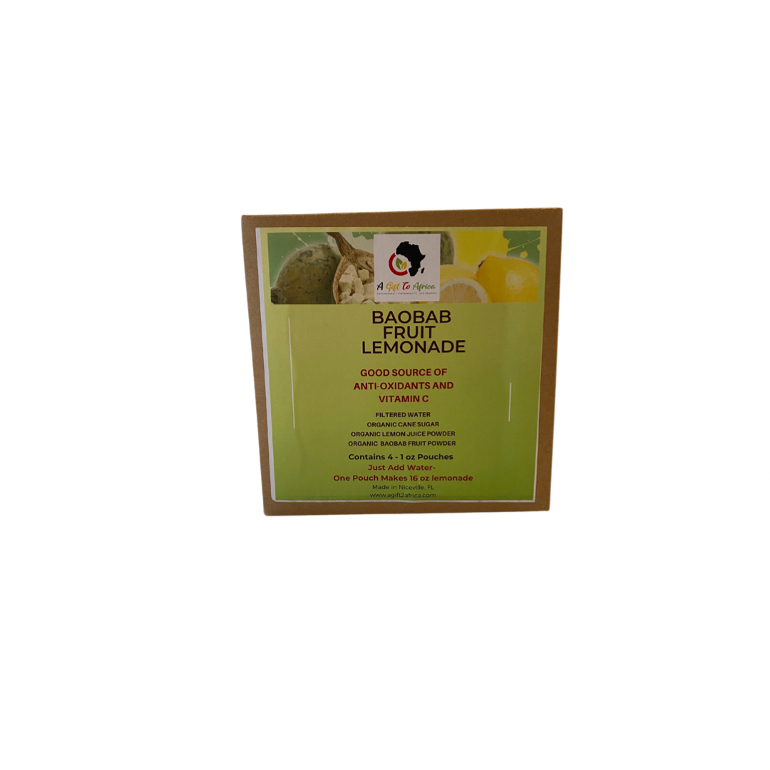 Baobab Fruit Lemonade Powder Mix - 4-1oz Pack Box