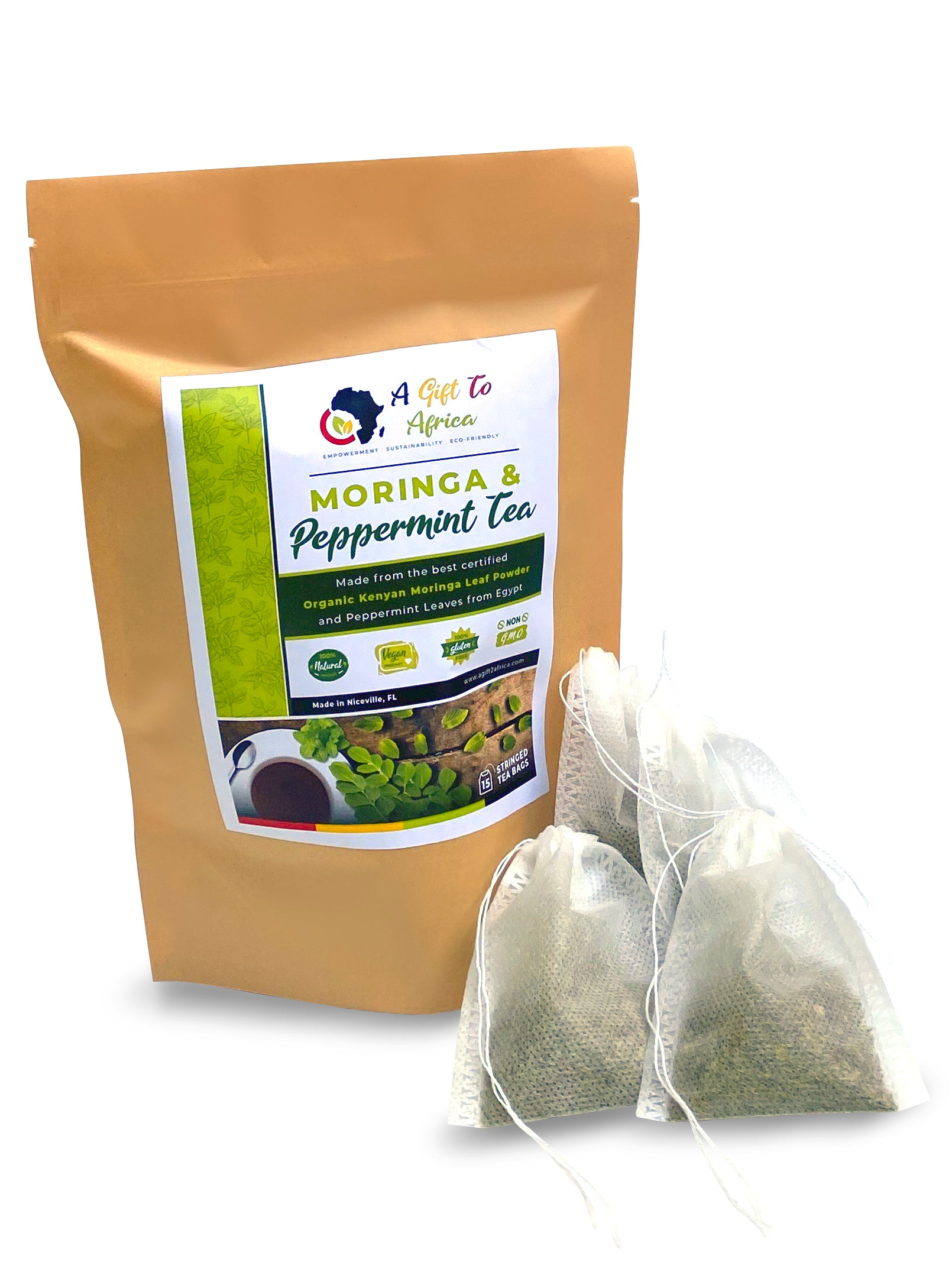 Moringa Peppermint Tea