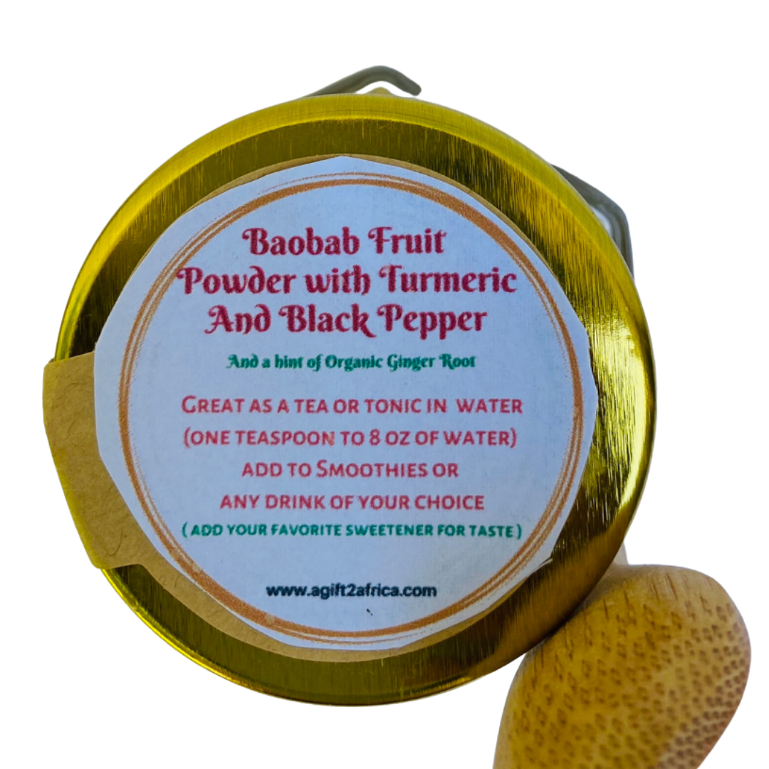 Baobab Fruit Powder with Turmeric and Black Pepper
