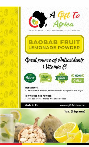 Baobab Fruit Lemonade Bottle