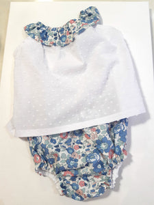 White cotton top (with Betsy Asagao Liberty colar)