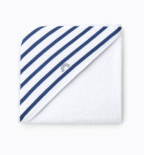 Load image into Gallery viewer, Hooded towel (Navy stripes)