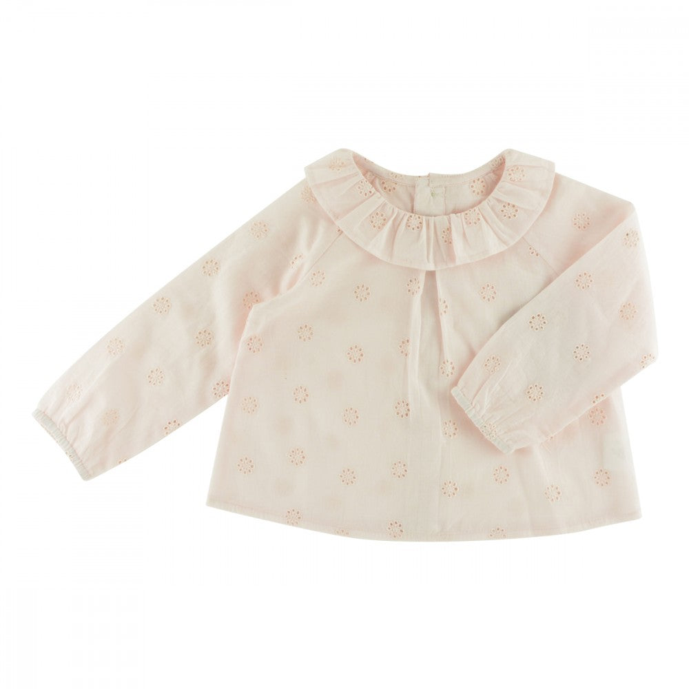 Charlotte Blouse (Pink Embroidery)