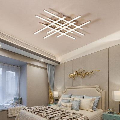 Lighting Garner - Chrome Plated Finish Creative RC Modern LED Dimmable Ceiling Chandelier