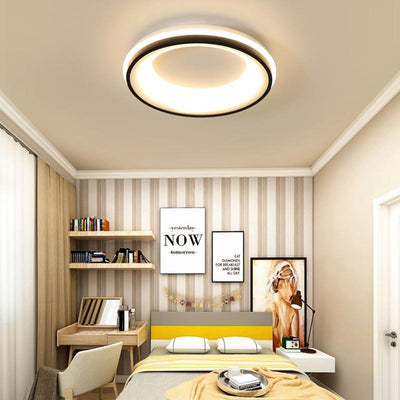 Lighting Garner - Black+White Square/Round Finished Modern LED Ceiling Chandelier Fixtures