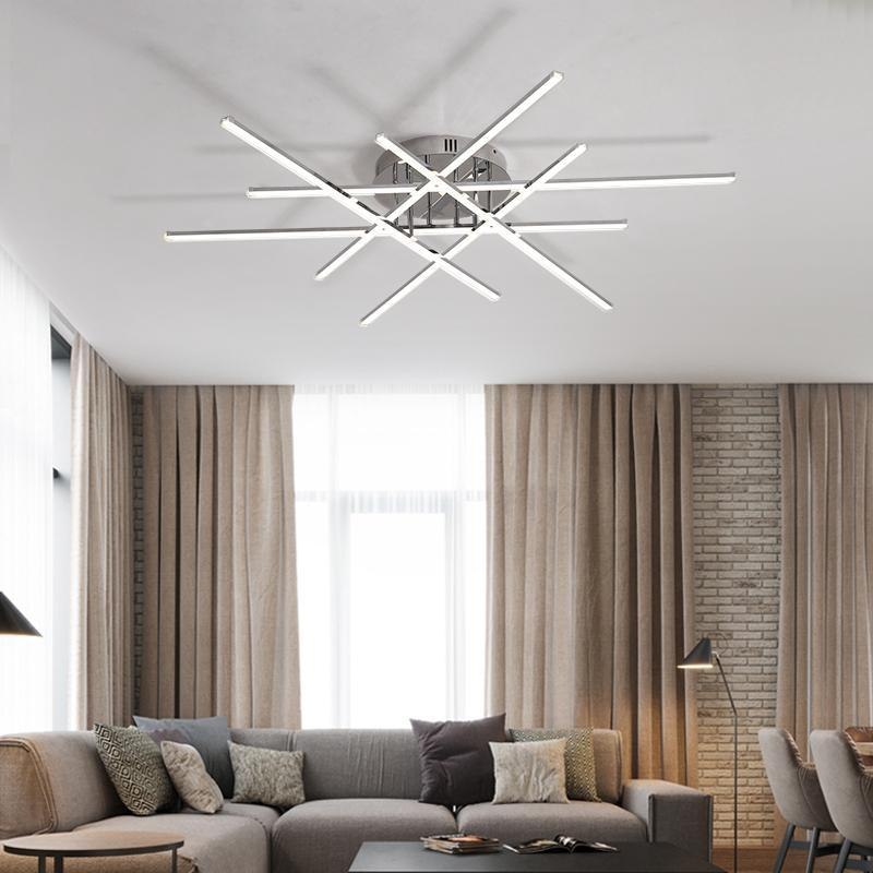 Lighting Garner - Chrome Plated Finish Modern LED Home Deco Ceiling Chandelier Fixtures