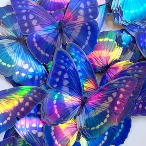 Holographic Morpho Butterfly Sticker Pack