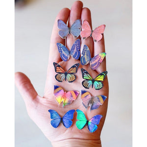 'Morpho & Monarch' Mini Butterfly Holographic Sticker Set Artist Wholesale