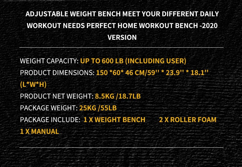 The specification of body solid weight bench