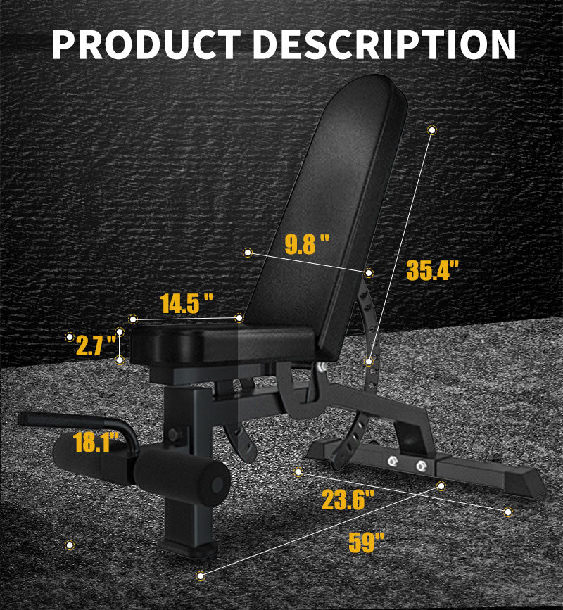body solid weight bench sizes