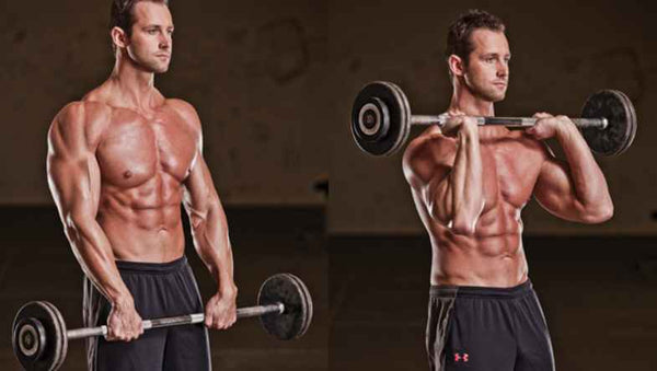 barbell curl wokout