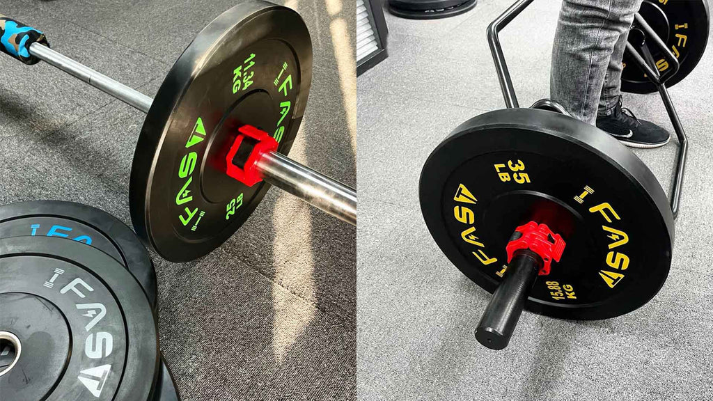 Made of proprietary pure rubber formula that combines the ideal mix to create low bounce, Odourless, and high durability bumper plate. Durometer Rating: 90.