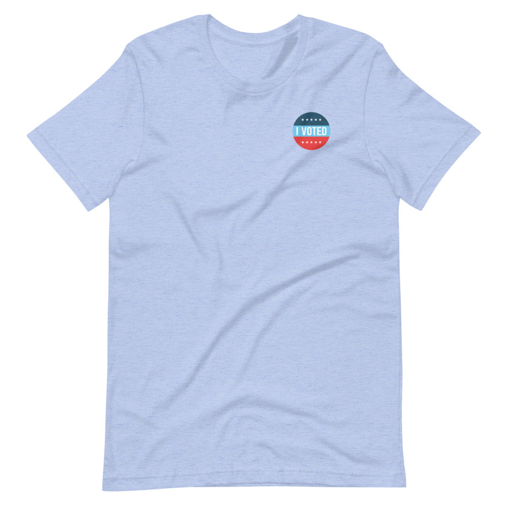 I Voted Sticker Unisex T-Shirt