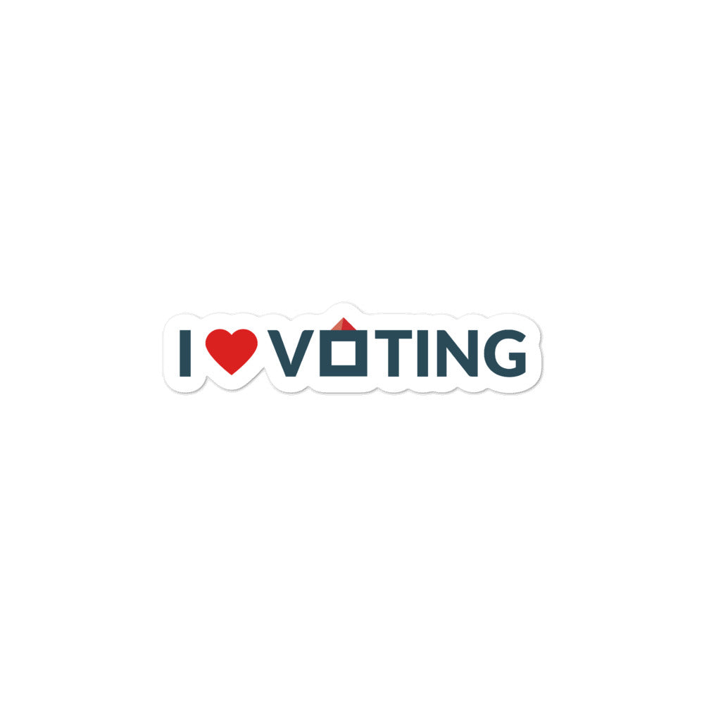 I heart voting sticker
