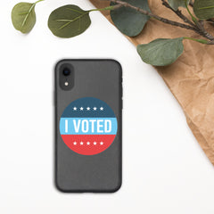 I Voted Sticker iPhone Case