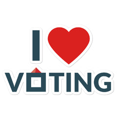 I Heart Voting II stickers