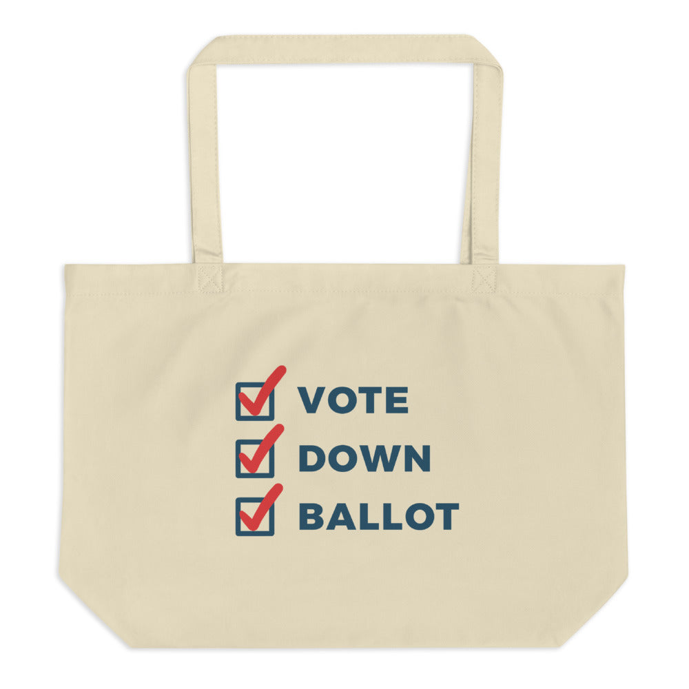 """Vote Down Ballot"" Tote Bag"